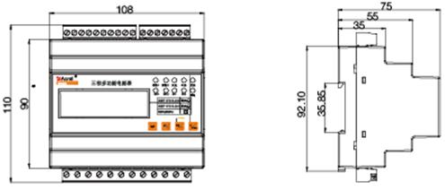 5(6)a;接线方式三相四线;互感器接入;2路开关量输入,2路继电器输出